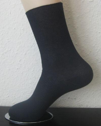 4 Paar Damen Socken ohne Gummi 100/% Baumwolle 1//1 Rippe blau uni Gr 35 bis 42