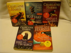 CHARLAINE-HARRIS-SOOKIE-STACKHOUSE-TRUE-BLOOD-LOT-OF-5-BOOKS