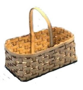 Rectangular Basket Kit BK104R dollhouse  1//12 scale wood /& card stock