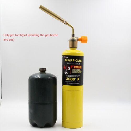Mapp Gas Turbo Torch Brazing Solder Propane Welding Plumbing New