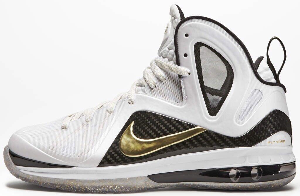 Nike LeBron 9 PS Elite Size 9.5 Home Gold White South Beach Air Max