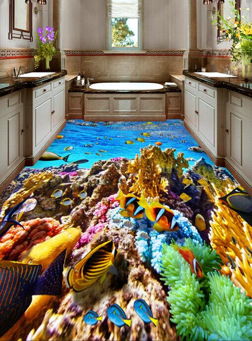 3D FONDO MARINO CORALES PECES 7 Impresión De Parojo Murales Papel de parojo lfloor AJ Wallpaper Reino Unido Limón