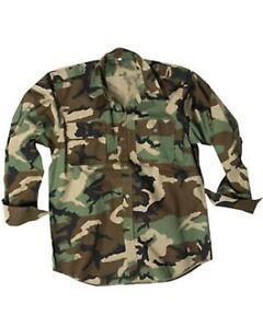 2019 DernièRe Conception Chemise Militaire Anglaise Army Us Woodland Camouflage 1/1 Bras Outdoor Chemise Long Manche Shirt L-afficher Le Titre D'origine