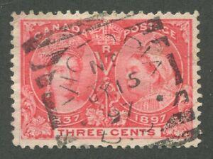 CANADA-53-USED-JUBILEE-SQUARED-CIRCLE-CANCEL-034-VICTORIA-034