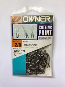 New Owner Hooks Pro Pack 1//0 Ringed Mutu 34 Hooks Bulk with Ring 5363R