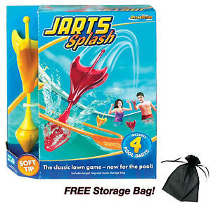 Jarts Splash Game w/Storage Bag Pool Safe Soft -Tip Darts by Fundex NEW