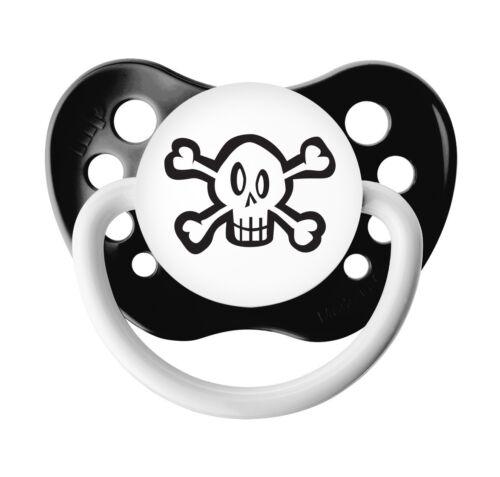 Ulubulu Skull Pacifier Black 0-6 months Unisex 6-18 months- Baby Binky