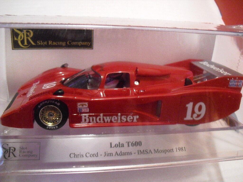 SRC Lola T600 Mosport 81 Neu 1 32 REF. 01711 ed. BESCHRÄNKT AUF 1020 und