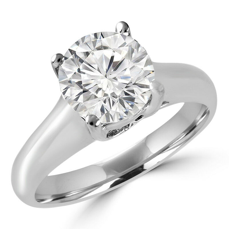 .42 CT SI2 G ROUND DIAMOND SOLITAIRE ENGAGEMENT RING 14K WHITE gold
