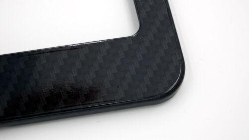 Ecobeast Black on black Carbon Fiber Look metal Car License plate frame