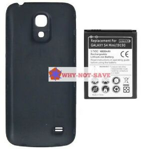 low priced 94e92 9ae1b Details about Extended replacement Internal Battery with back Cover for  Samsung Galaxy S4 Mini