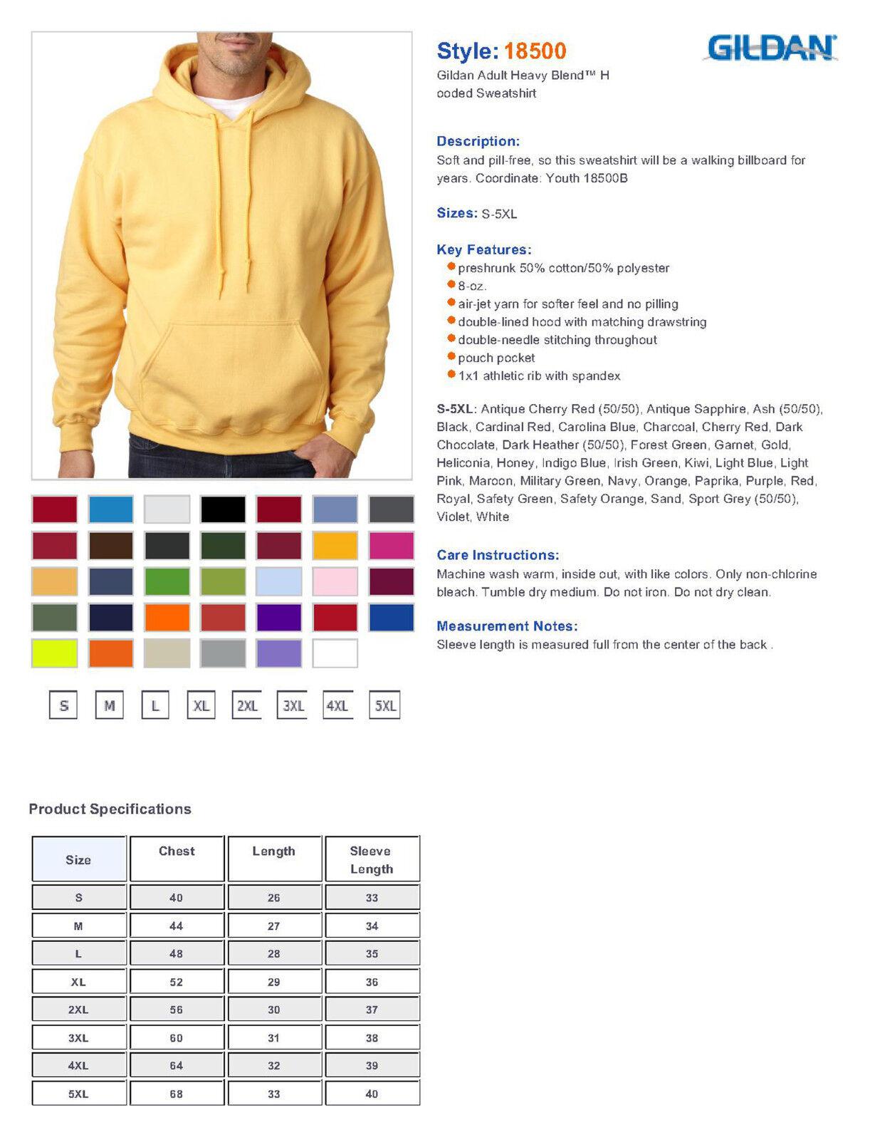 Gildan Dark Heather Hoodie Heavy Blend Sweater Blank Plain Hooded Sweat Sweater Blend Uomo 4557cd