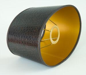 Lampenschirm-Stilvoll-aus-Lederimitat-Oval-Fuer-Tischlampen-Buero-Kroko-E27-3