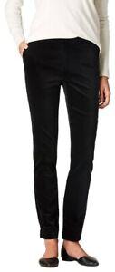 J Jill Black Velvet Velour Stretch Slim Leg Women's Pants Size 4P (petite) NWT
