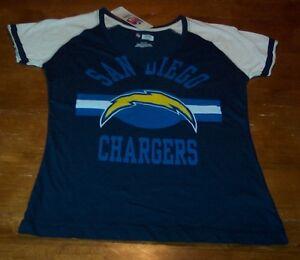 VINTAGE STYLE WOMEN'S TEEN SAN DIEGO CHARGERS NFL FOOTBALL T-Shirt MEDIUM NEW