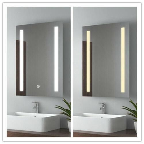 LED Spiegel Lichtspiegel Badspiegel Wandspiegel Beschlagfrei mit Touch Schalter