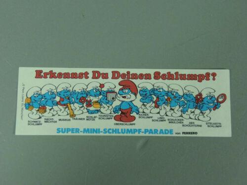 Erkennst Du Deinen Schlumpf 100/% original 1981 TOPZUSTAND! HPF-BPZ