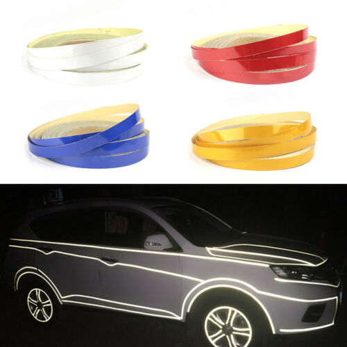 1x Hot Charming Colorful Auto Motorbike Car Reflective Tape Attract Attention