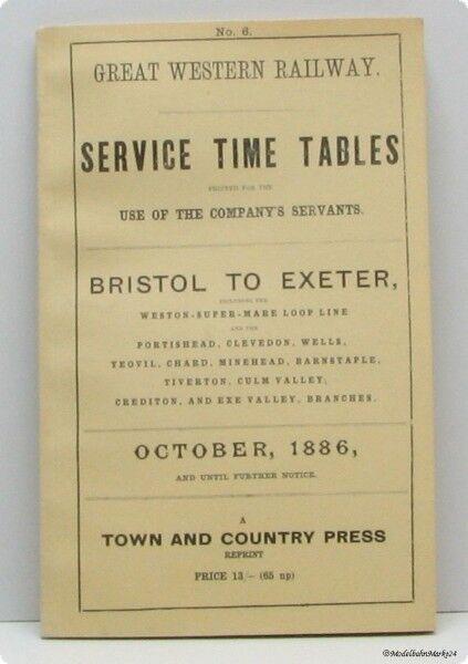 Great Western Railway Service time tables nº 6 6 6 reproducción autorizada ffeb72