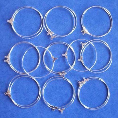 40 mm conclusions pour bijoux pour boucles d/'oreilles Verre à vin charme etc 20 SP Hoops