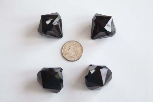 lot for Bubblegum Chunky Necklace Dark Green Rose Pendant 45mm Diameter 4 ct