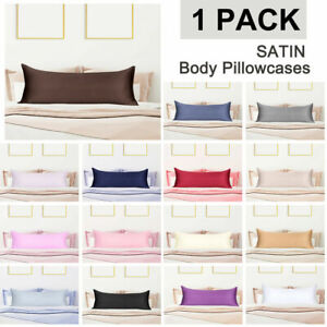Silky-Satin-Body-Pillow-Cover-Soft-amp-Skincare-with-Zipper-Pillowcases-20-54inch