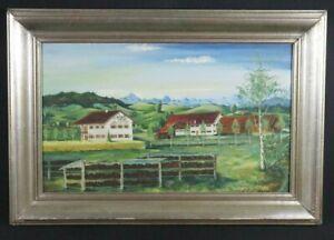 Antico-Quadri-di-paesaggi-FIRMATO-H-fonditore-1949-Olio-Su-Tela-restaurando