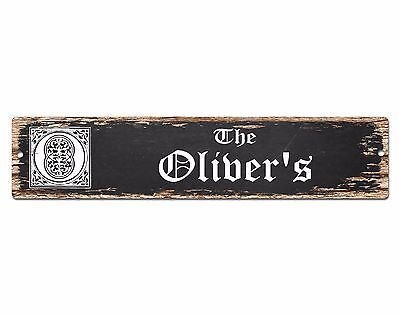 PPBT0319 OLIVER/'S BAR and TAVERN Rustic Tin Chic Sign Home Store Decor Gift