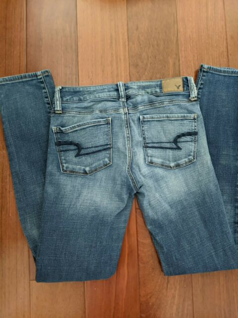American Eagle Womens Size 4 Long Jegging Super Super Stretch Jeans