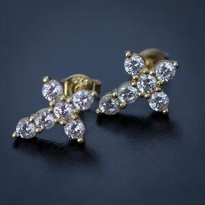 Image Is Loading Men 039 S Small 14k Gold Diamond Cross