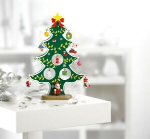Details About Vintage Style Wooden Christmas Tree Decorations Ornaments Tabletop Home Decor Uk