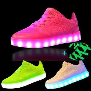 Damen Mädchen Leuchtschuhe Led Schuhe Leuchtende Farbwechsel Sneaker