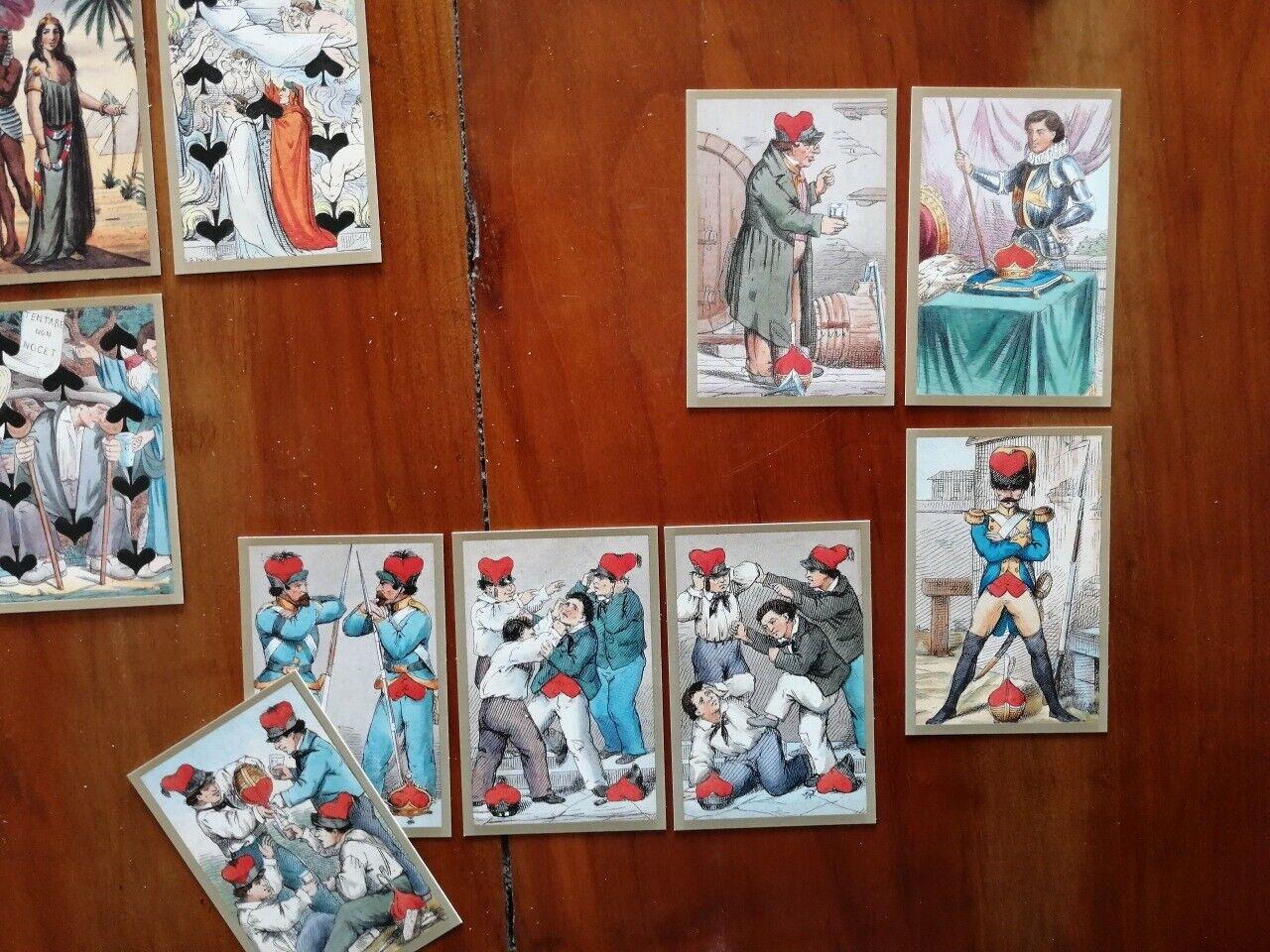 Tarot 52 Carte Toscane - Florence 1850 ca.     by ADOLFO MATARELLI d021ad