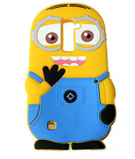 For LG K10 / Premier LTE Soft Rubber Silicone Skin Case Cover Cute Yellow Minion