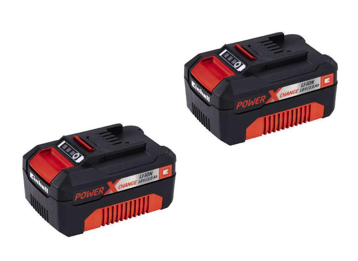 2x Einhell 3.0 Ah Power-X-Change 18 Volt System Akku Lithium-Ionen