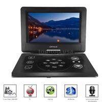 "New 10.1"" Inch Portable DVD Player Swivel Widescreen USB SD Game TV & Radio B0X9"