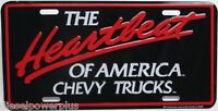 Gmc Chevy Trucks Tag Heartbeat Emblem License Plate Logo Decal Sign Reg Cab Long