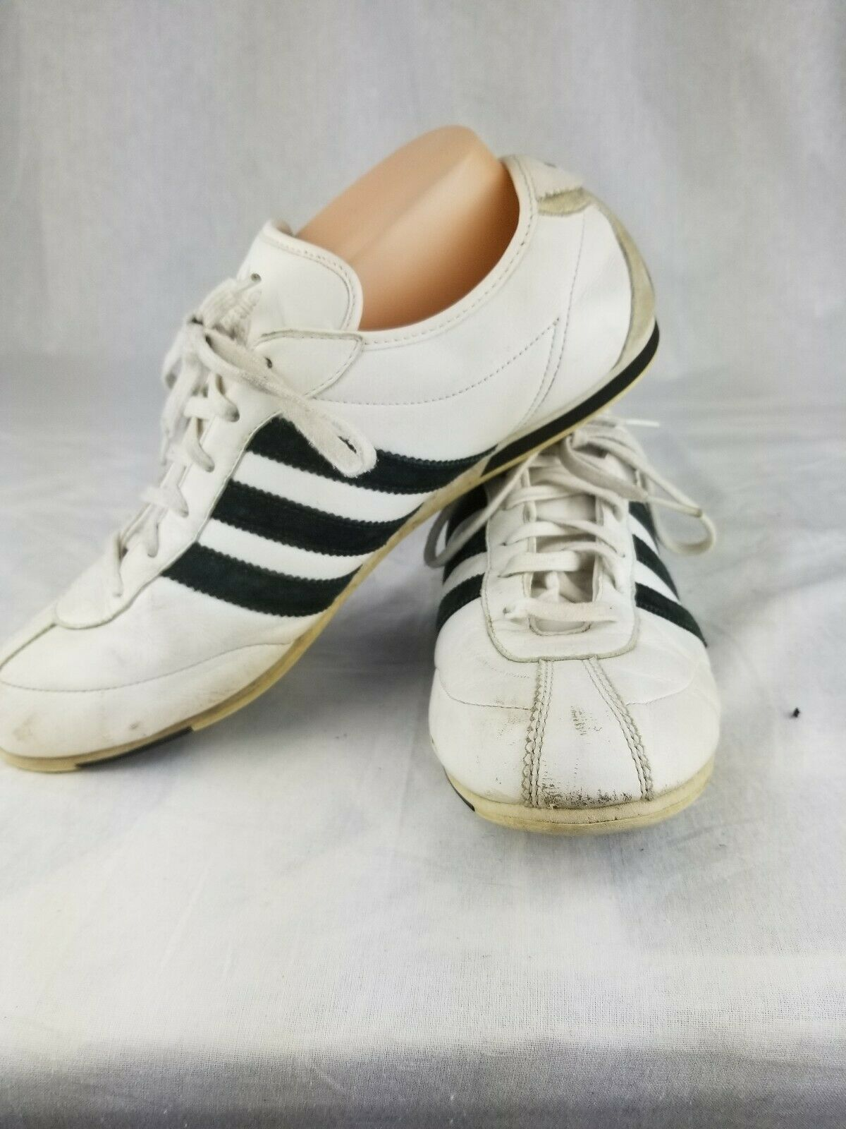 sports shoes 38a5d bce36 Classic 12 05 Adidas black and white stripe shoes woman size 9.5 463646 cute