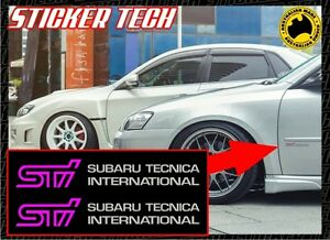 Sti Subaru Tecnica International Vinyl Sticker Decal Set