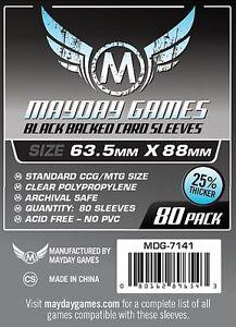 Mayday - Noir Premium Pochettes pour Cartes 63.5mm X 88mm - Paquet de 80 bHM8AllR-09111424-252520811