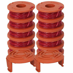 12-Pack-Replacement-Spool-String-Trimmer-Line-For-WORX-10-Pack-Spools-And-2x-Cap