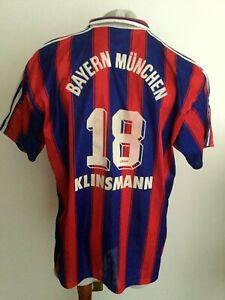 Maglia Calcio Adidas Bayern Munich 1995 Klinsmann #18 Trikot Football Shirt Xxl