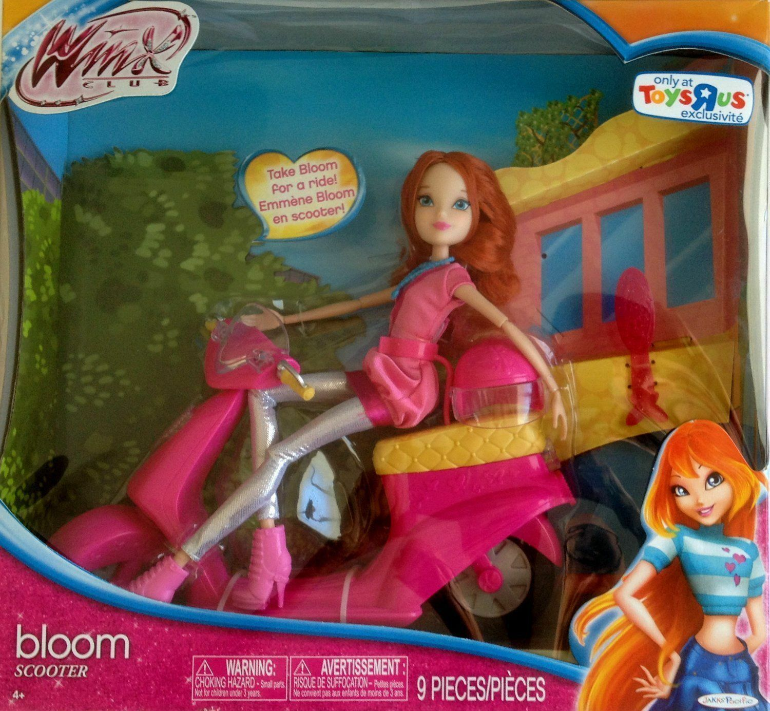WINX CLUB  BLOOM DOLL DOLL WITH SCOOTER SCOOTER SCOOTER 212721