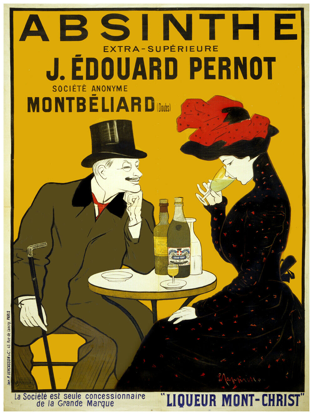 7641.Decoration Poster.Home Room art design print.Absinthe magic liquor Nouveau