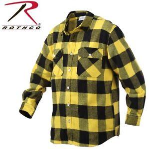 Yellow Plaid Men s Heavyweight Brawny Buffalo Plaid Flannel Shirt ... 26b93d9eb3b