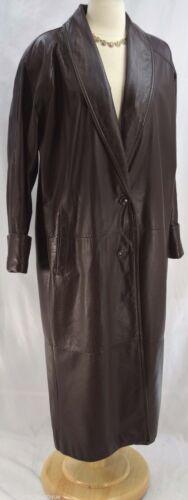 Spiegel Women's Leather Trench Coat long Jacket so