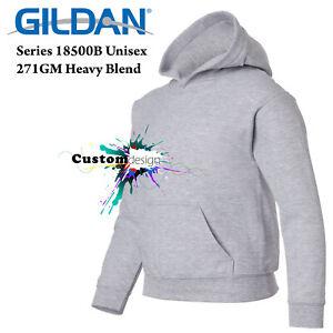 Gildan-Sport-Grey-Hoodie-Heavy-Basic-Hooded-Sweater-Boy-Girl-Youth-Kids