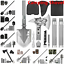 thumbnail 1 - Military Folding Shovel Survival Tactical Spade Tools for Camping Hiking Hunting