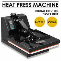 "15"" x 15"" Digital Clamshell Heat Press Transfer Sublimation Machine T-shirt"