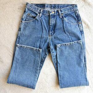 Mens-WRANGLER-Jeans-Vintage-Regular-Fit-Straight-Leg-Denim-Trousers-Size-W32-L30